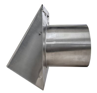 "6"" ALUMINUM HOODED VENT W/ SPRING FLAPPER"